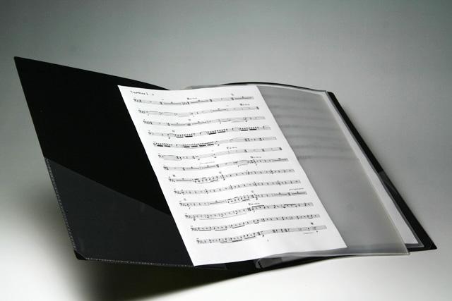 楽譜用 譜面用 クリアファイル 文具 音楽雑貨