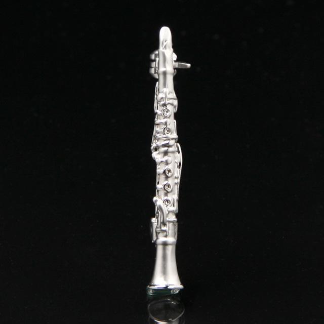マット&ブライトシリーズ クラリネット ブローチ 音楽アクセサリー 楽器アクセサリー 音楽雑貨