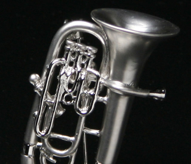 マット&ブライトシリーズ ユーフォニアム ブローチ 音楽アクセサリー 楽器アクセサリー 音楽雑貨
