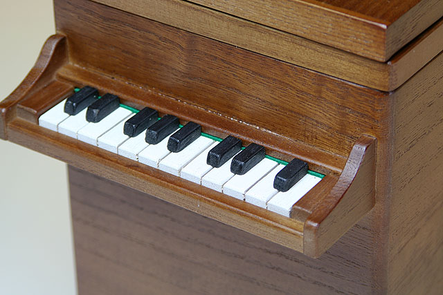 桐製 グランドピアノ ダストボックス 【M】 音楽雑貨 鍵盤