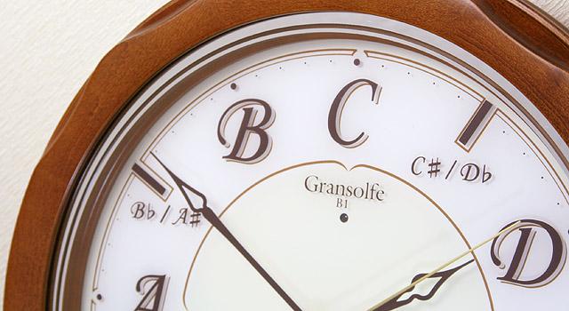 音階時報時計 掛け時計 音感 グランソルフェ Gransolfe 絶対音感 音楽雑貨 音楽ギフト 音楽グッズ ピアノ バッハ 平均律クラヴィーア曲集 音感養成