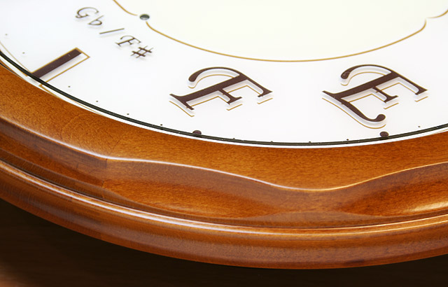 音階時報時計 掛け時計 グランソルフェ Gransolfe 音感 絶対音感 音楽雑貨 音楽ギフト 音楽グッズ ピアノ バッハ 平均律クラヴィーア曲集 音感養成