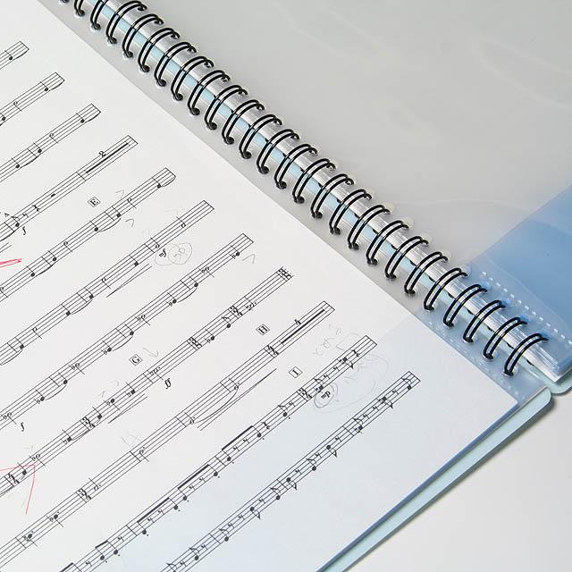 バンドファイル リング式 音楽雑貨 演奏実用品 楽譜 譜面 書き込み 製本 楽譜ファイル