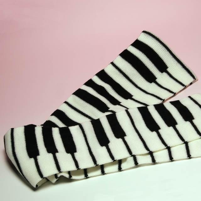 ジャカード織 鍵盤マフラー 鍵盤 音楽雑貨 音楽グッズ 音楽ギフト ピアノ