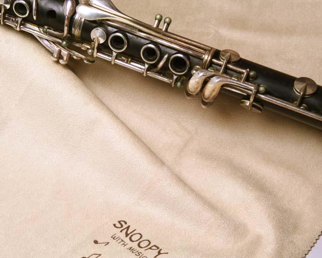 超極細繊維クロス クラリネット スヌーピー エグゼクティブラグジュアリークロス 音楽雑貨 音楽グッズ 楽器用品 メンテナンス 音楽ギフト