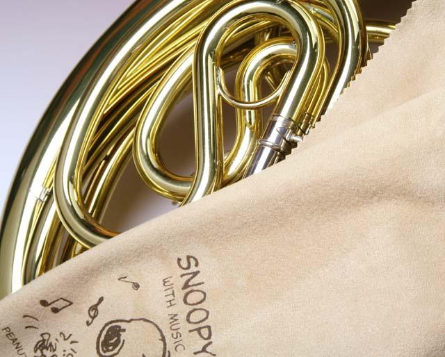 超極細繊維クロス フレンチホルン スヌーピー エグゼクティブラグジュアリークロス 音楽雑貨 音楽グッズ 楽器用品 メンテナンス 音楽ギフト