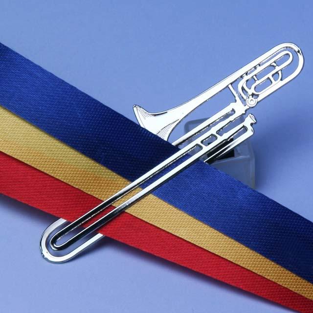 トロンボーン trombone デザインクリップ ステンレス 音楽雑貨 音楽グッズ 音楽ギフト 記念品