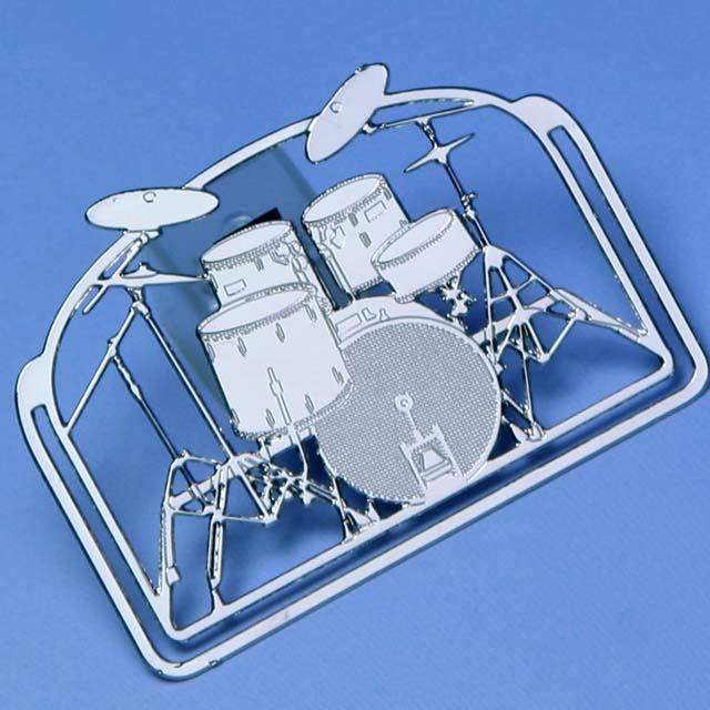 ドラムセット drum set デザインクリップ ステンレス 音楽雑貨 音楽グッズ 音楽ギフト 記念品