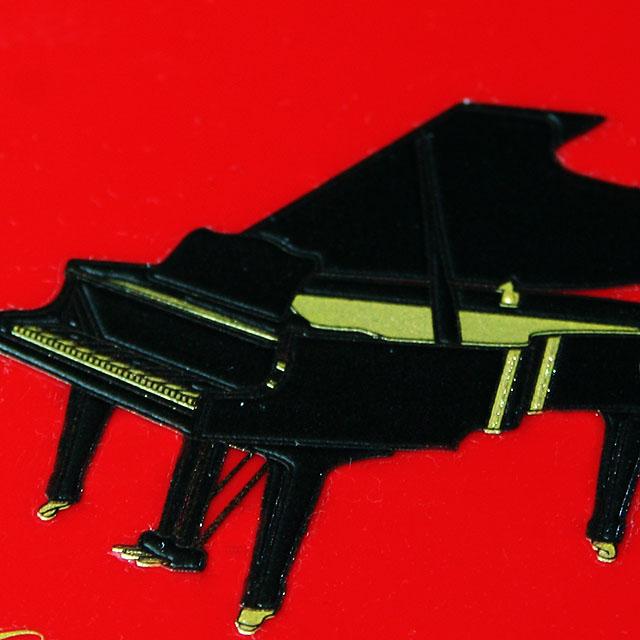 蒔絵風 携帯ステッカー 音符 グランドピアノ piano 音楽雑貨 音楽グッズ 音楽ギフト