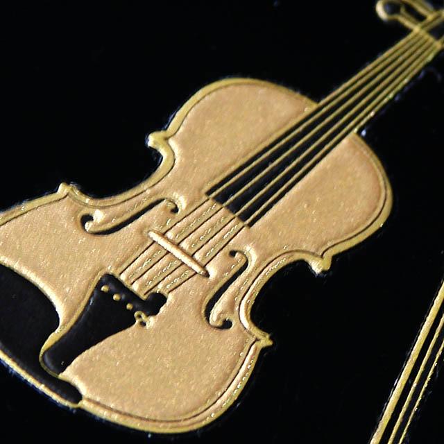 蒔絵風 携帯ステッカー 音符 ヴァイオリン Violin 音楽雑貨 音楽グッズ 音楽ギフト
