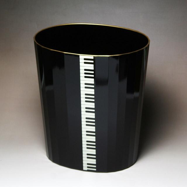 ピアノ 鍵盤 ゴミ箱 ダストボックス 音楽雑貨 音楽グッズ