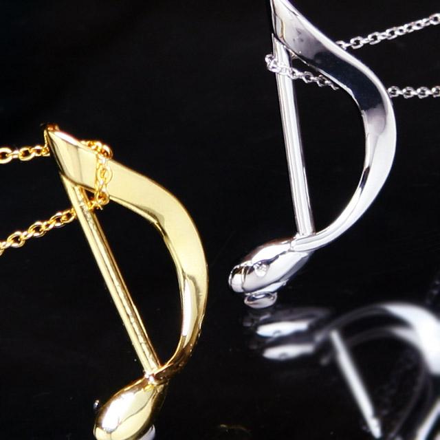 シルバーアクセサリー ペンダント 8分音符 音楽雑貨 音楽ギフト 音楽グッズ