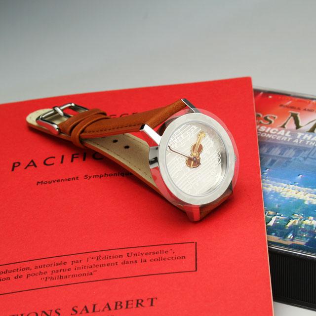 ヴァイオリン AKTEO 音楽腕時計 ウォッチ 音楽雑貨 音楽ギフト