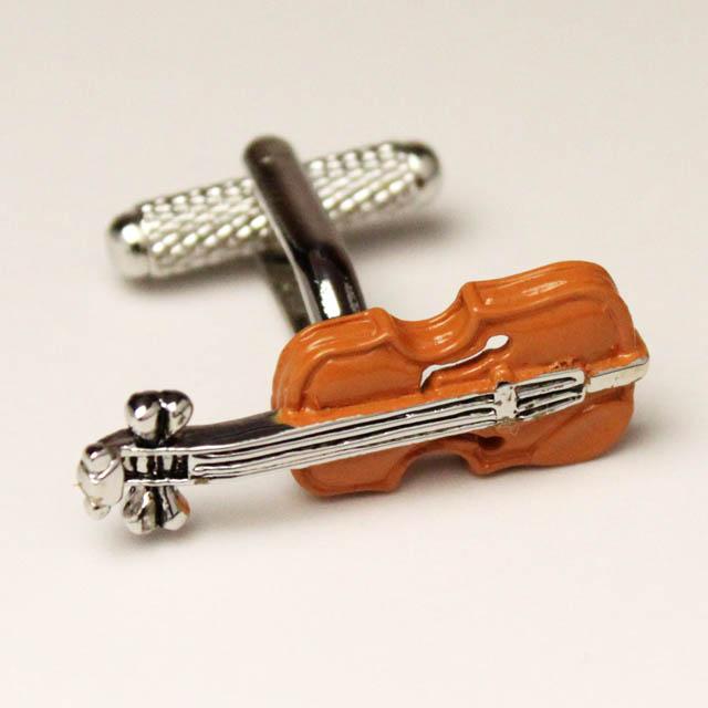 音楽雑貨 音楽ギフト カフスボタン ヴァイオリン 弦楽器