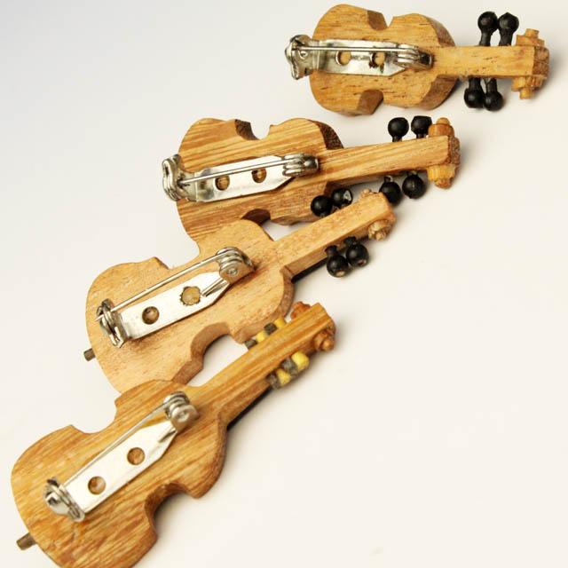 Wooden ピン 弦楽器 弦4部 音楽雑貨