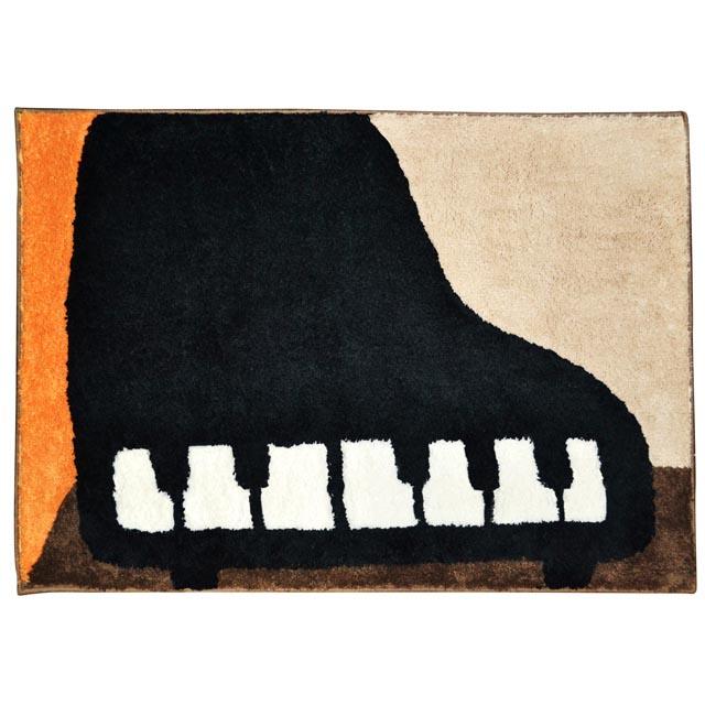フロアマット グランドピアノ 音楽雑貨 音楽グッズ