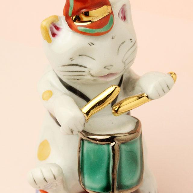 九谷焼 猫マーチング スネアドラム 音楽雑貨 音楽グッズ