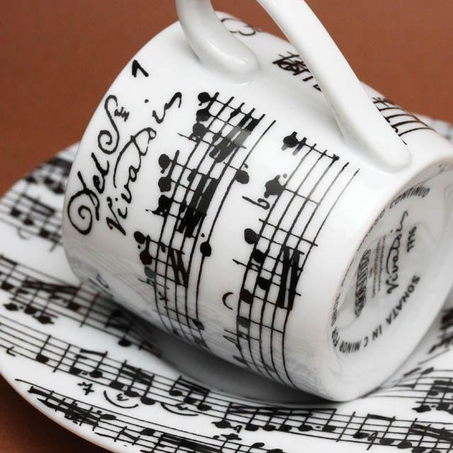 ヴィヴァルディ オーボエのためのソナタ エスプレッソカップ 音楽雑貨 音楽グッズ