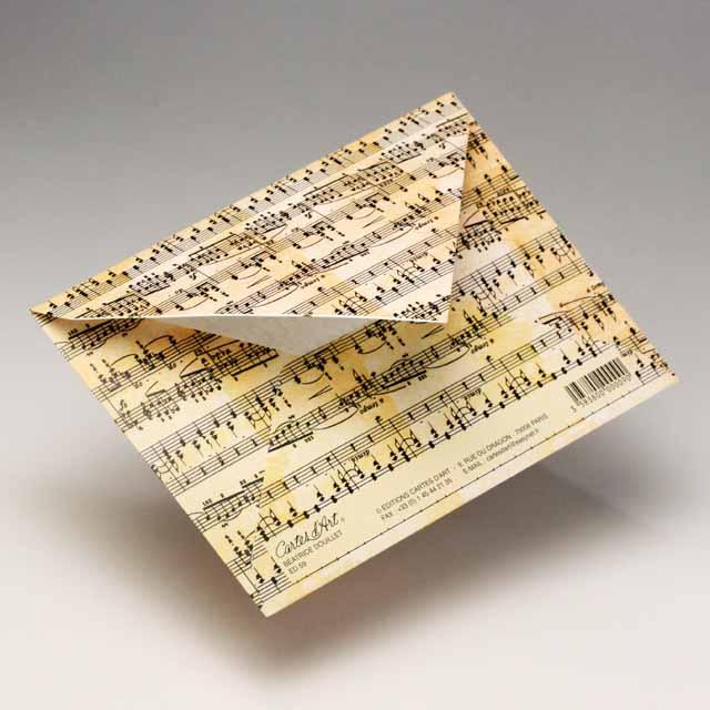 封筒 弦楽器 楽譜 ハート 音楽雑貨