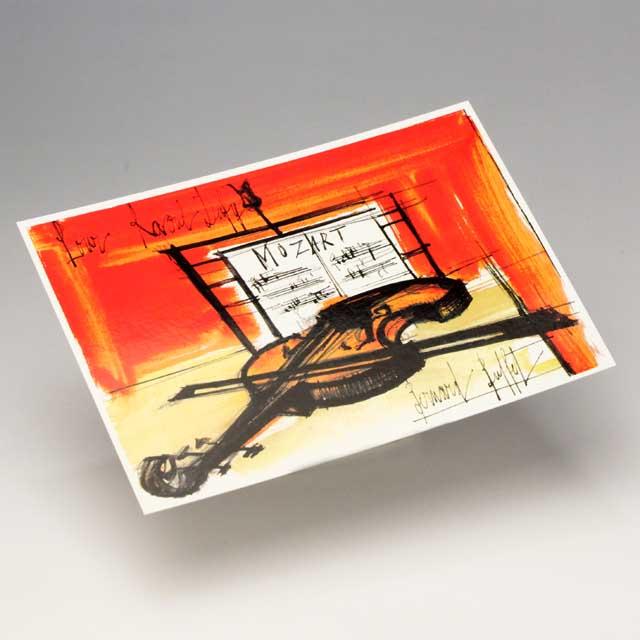 ポストカード ヴァイオリン Mozart 音楽雑貨