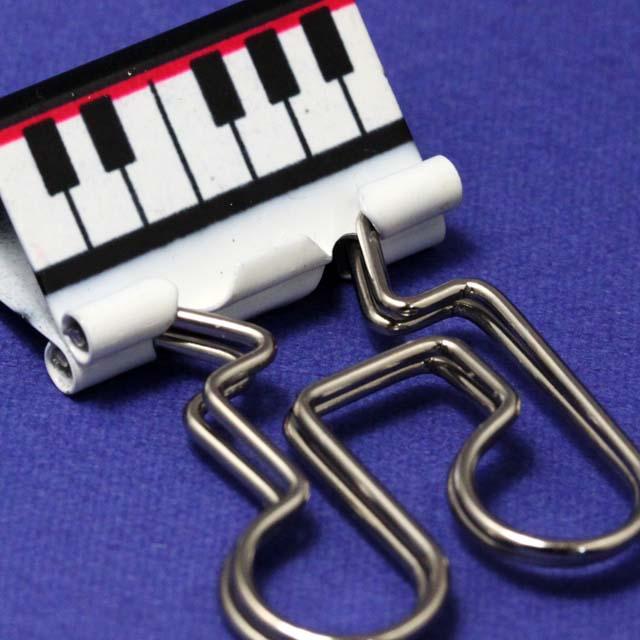 鍵盤 連符 ダブルクリップ 音楽雑貨 音符グッズ
