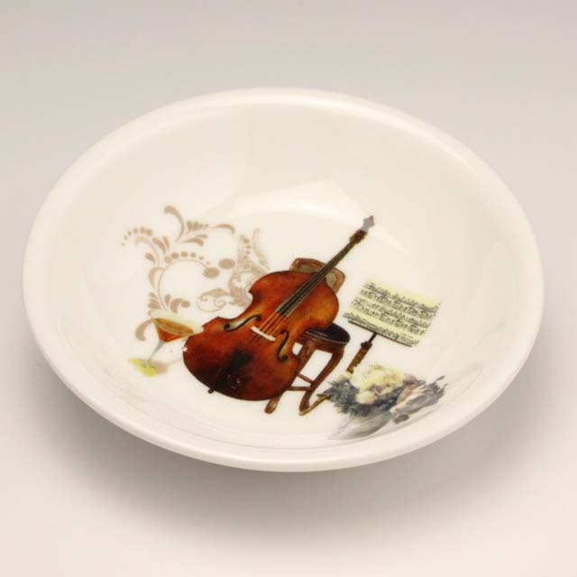 豆絵皿 コントラバス 音楽雑貨 音楽グッズ