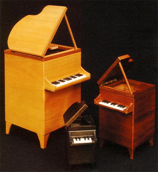 桐製 グランドピアノ ダストボックス 音楽ギフト 音楽雑貨 鍵盤
